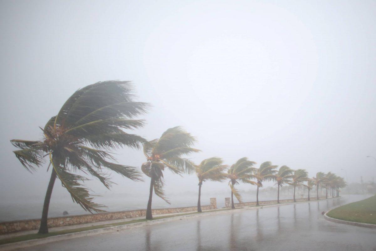 Effetti uragano sulle finestre
